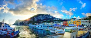 Sunrise over Marina Grande in Capri