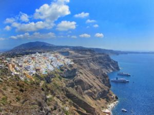 View of Fira from Firostefani, Santorini