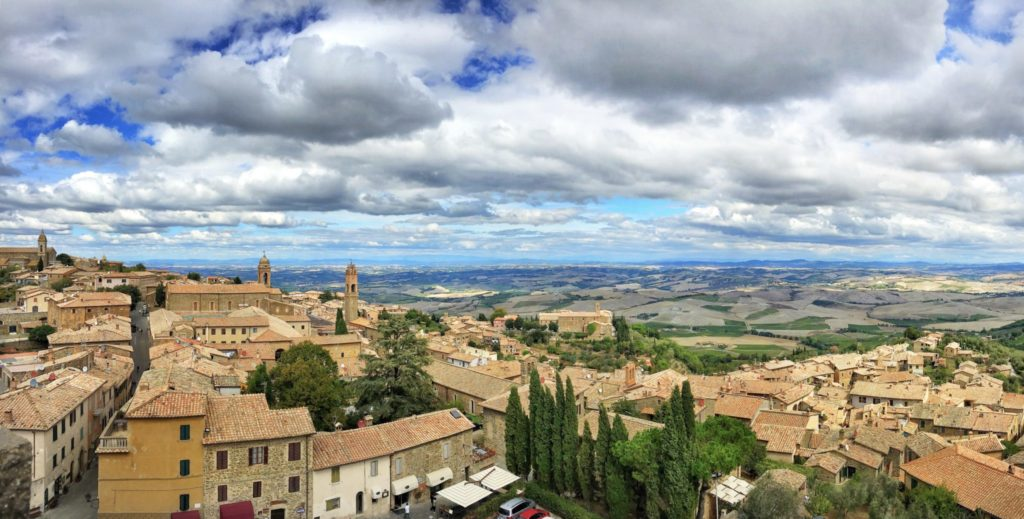 Montalcino during a Tuscany, Italy road trip