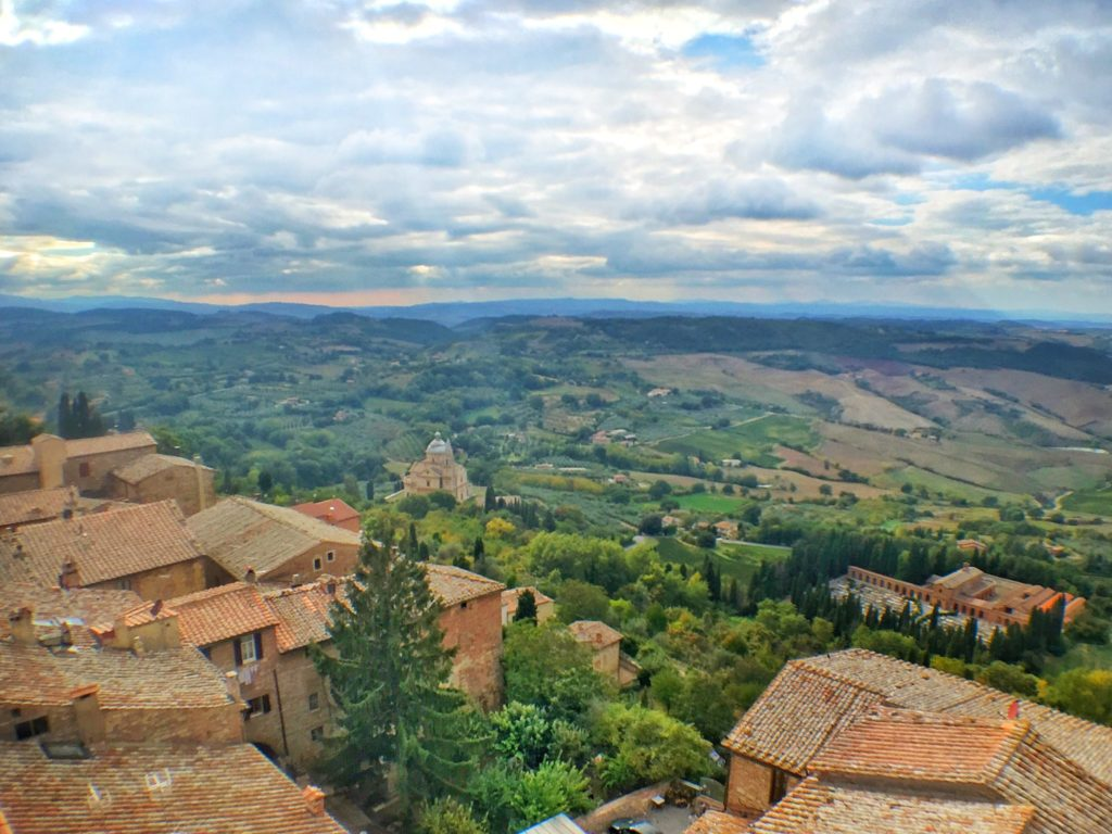 Montepulciano views during a Tuscany, Italy road trip