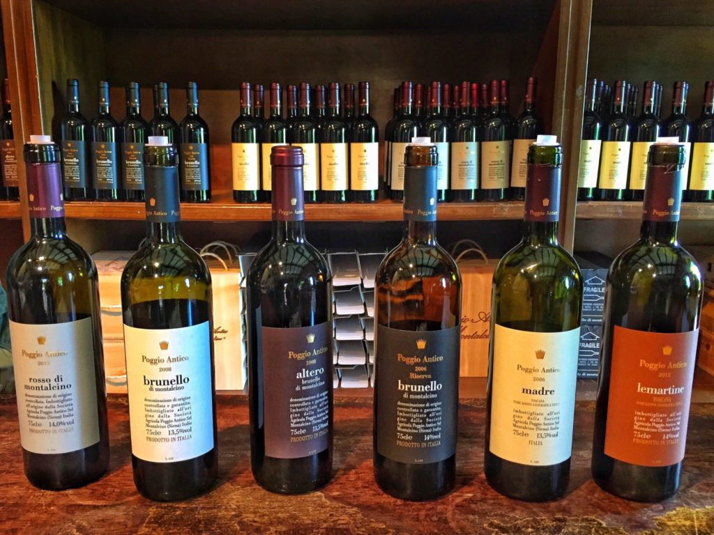 Wine tasting at Poggio Antico, Tuscany, Italy road trip